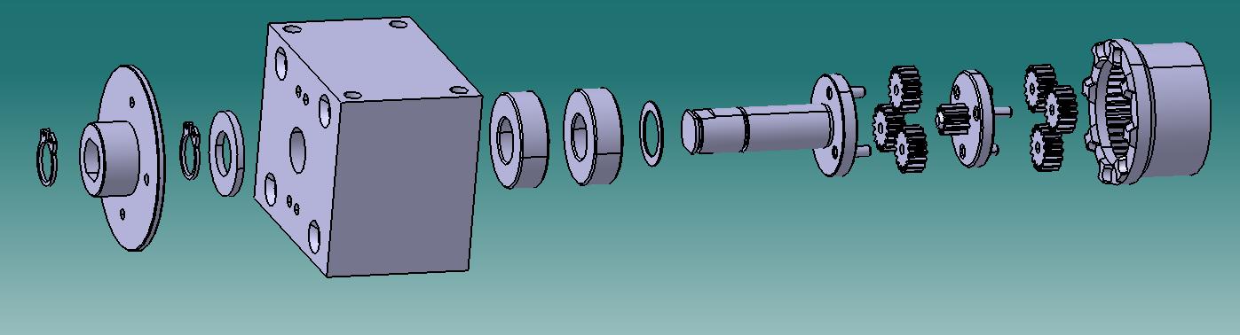 Kackeblaster Getriebe Antrieb