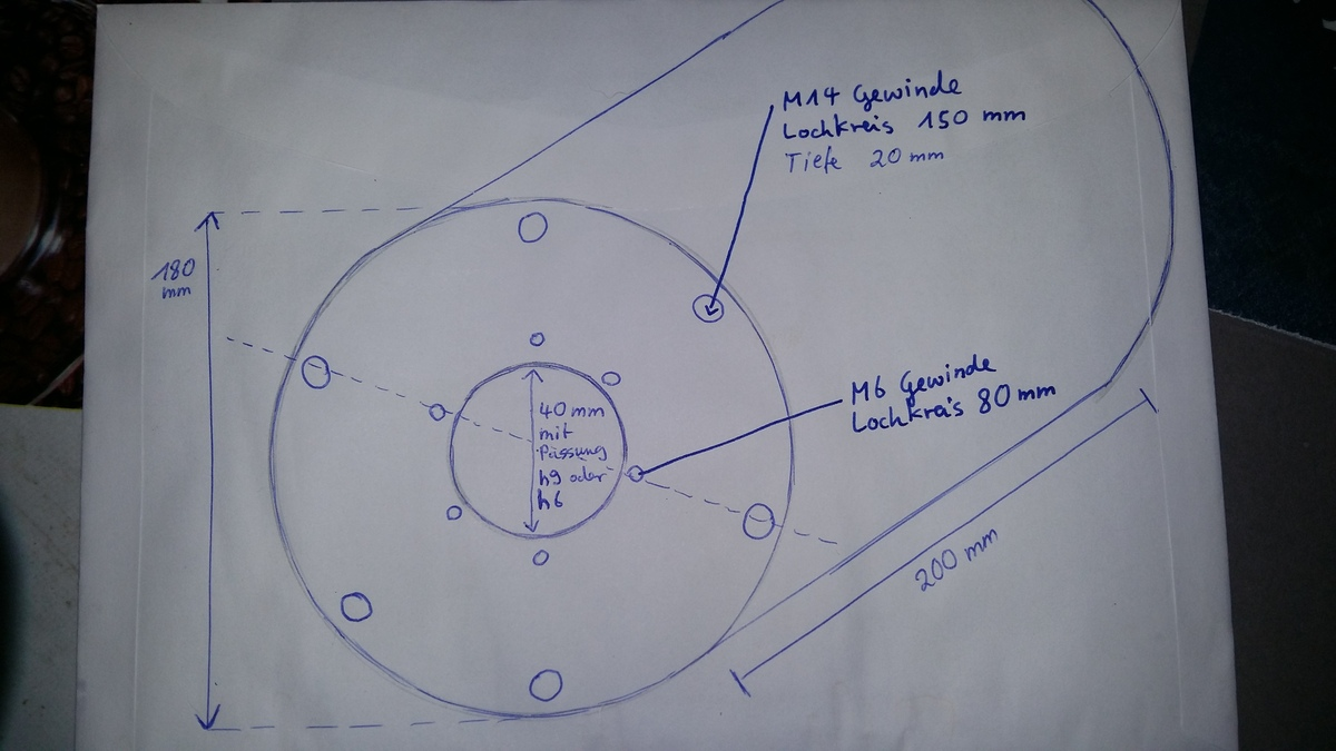 Zeichnung Drum Darkmatter